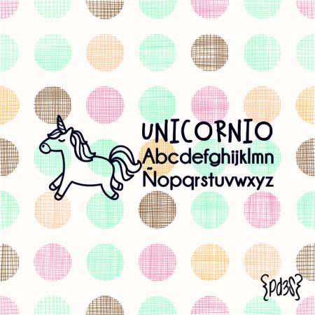 Par de 3 Studio sello marca ropa unicornio 2