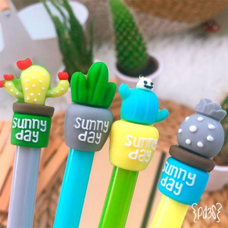 Par de 3 studio boligrafo cactus suny day