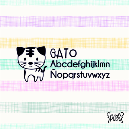 Par de 3 Studio sello marca ropa gato