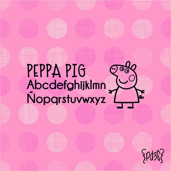 Par de 3 Studio sello marca ropa peppa