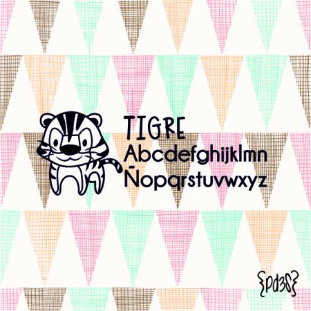 Par de 3 Studio sello marca ropa tigre