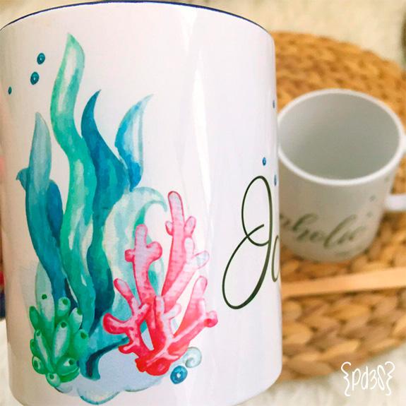 par de 3 studio taza oceanholic