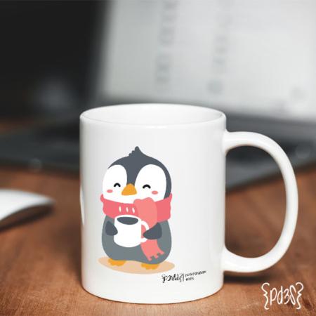 Par de 3 Studio taza pingüino navidad
