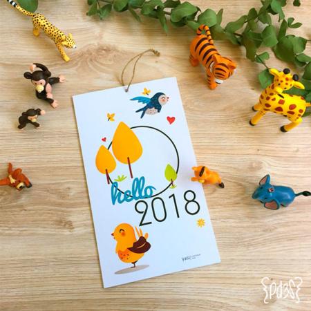 par de 3 studio calendario anual jungla