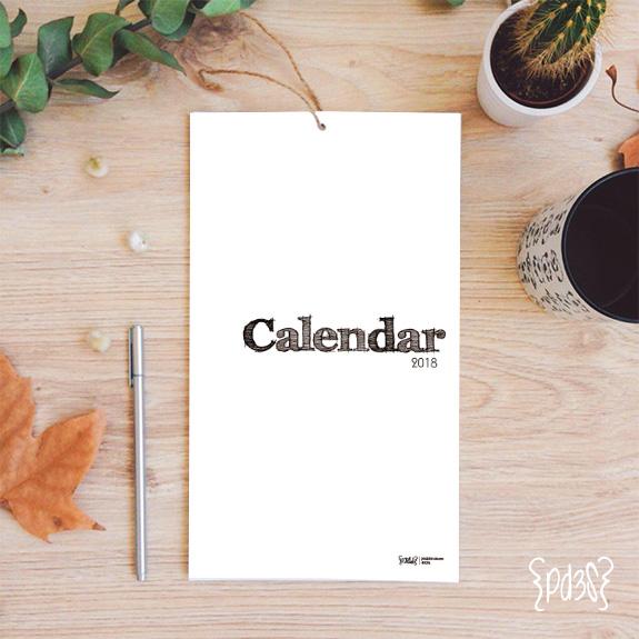 par de 3 studio calendario anual numbers