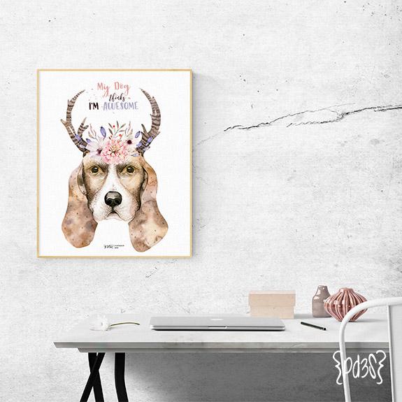 Par de 3 Studio Lámina Dog lover