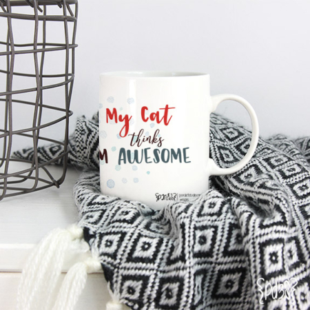 Par de 3 Studio taza Cat lover