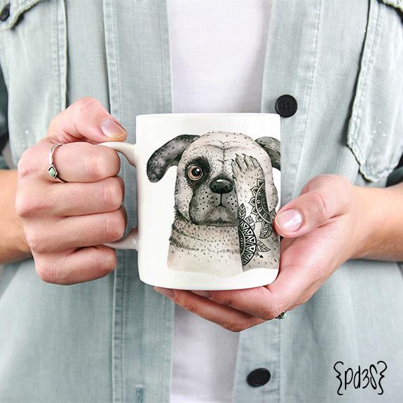 Par de 3 Studio taza Dog lover