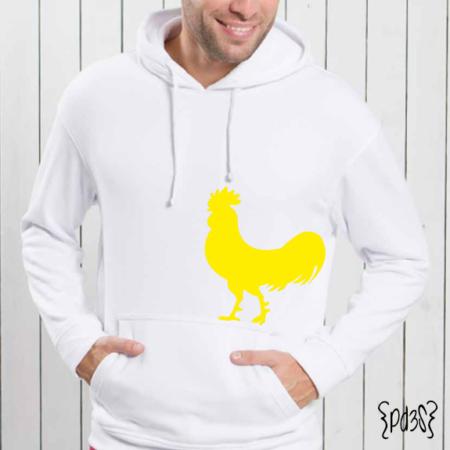 Par de 3 Studio sudadera hombre gallo blanca