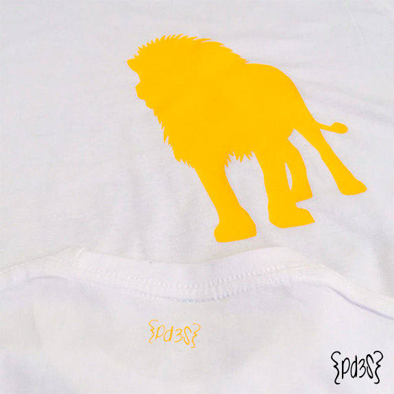 Par de 3 studio camiseta hombre leon