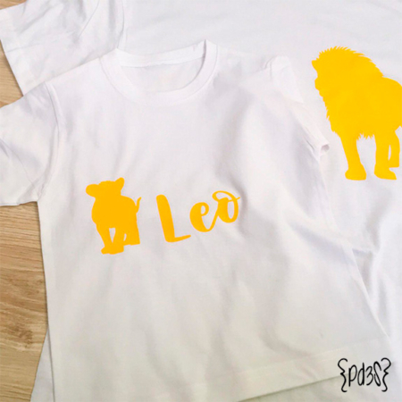 Par de 3 studio camiseta nino leon