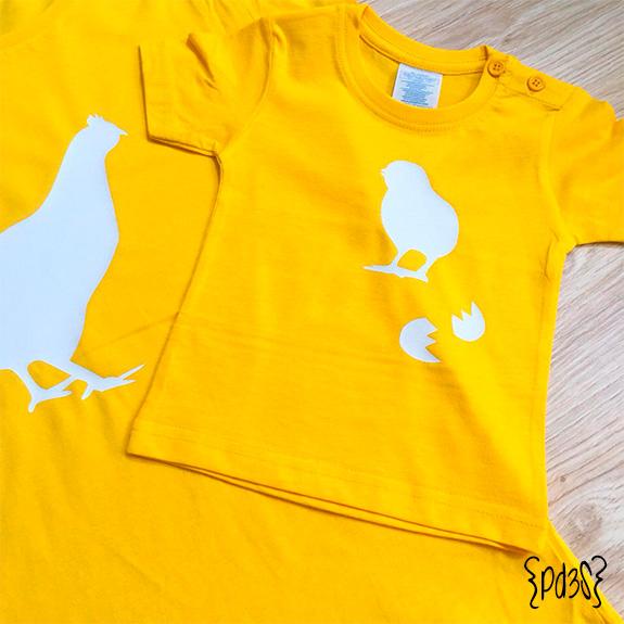 Par de 3 studio camiseta nino pollito