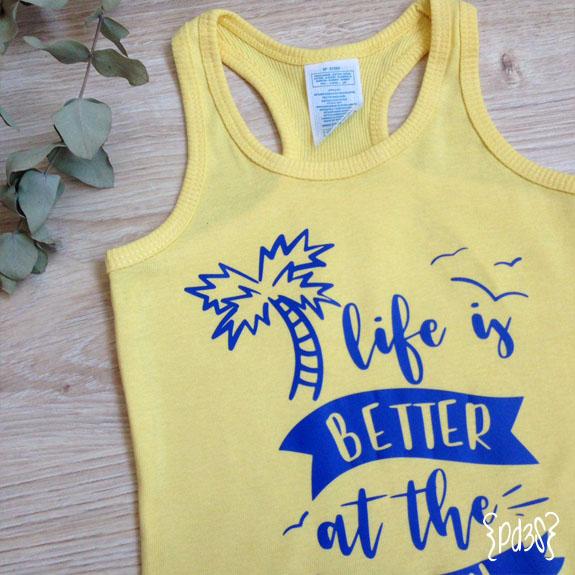 Par de 3 Studio camiseta tirantas amarilla