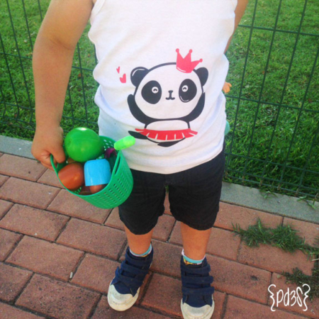 Par de 3 Studio camiseta tirantas panda