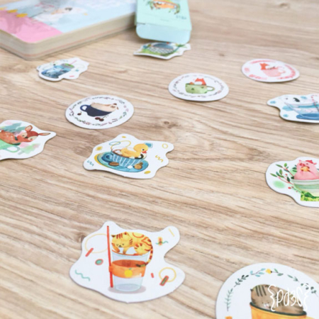 Par de 3 Studio stickers animales