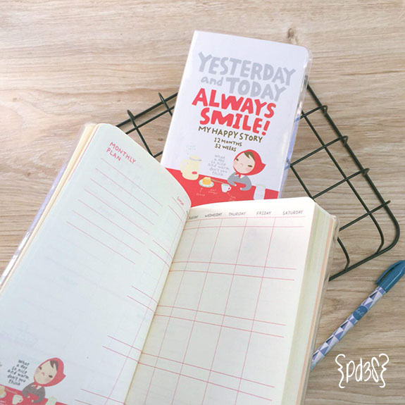 Par de 3 studio agenda pony brown roja