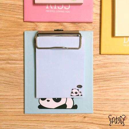 Pa de 3 studio clipboard panda