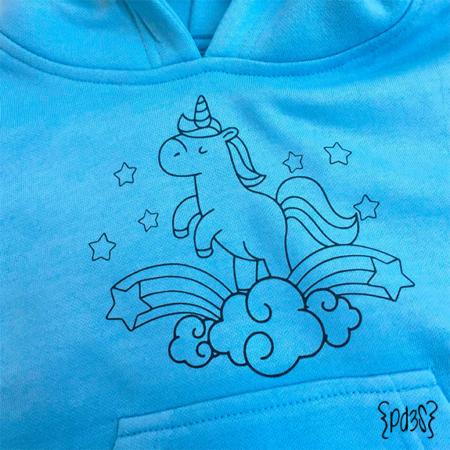 Par de 3 studio sudadera infantil capucha unicornio