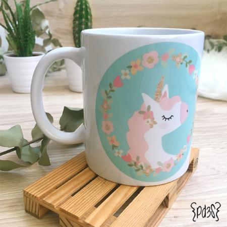 Par de 3 studio taza unicornio