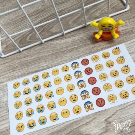 Par de 3 Studio Shop stickers emoticonos