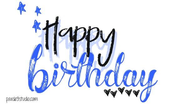 par de 3 studio happy birthday