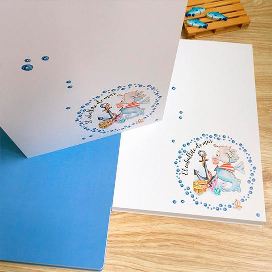Par de 3 studio porfolio caballito de mar