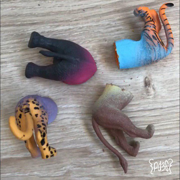 Par de 3 studio DIY perchero animales