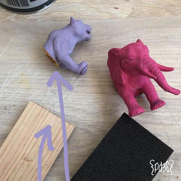 Par de 3 studio DIY perchero animales