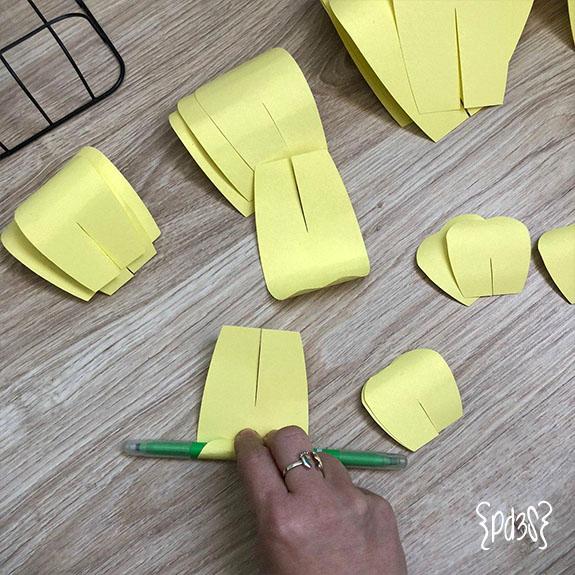 Par de 3 studio DIY Flor Papel