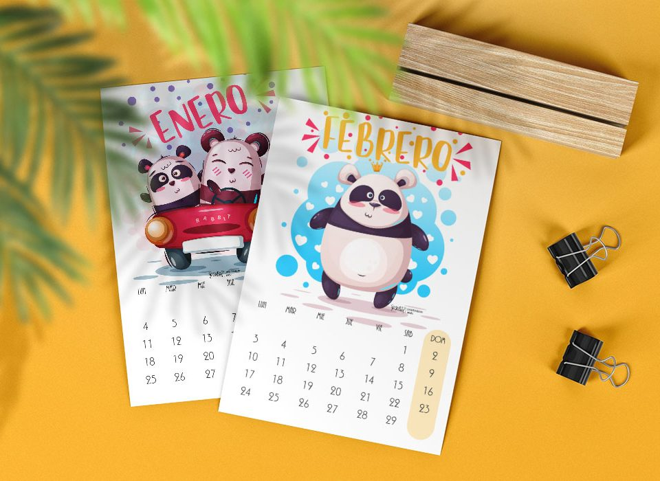 Par de 3 Studio Pack Panda