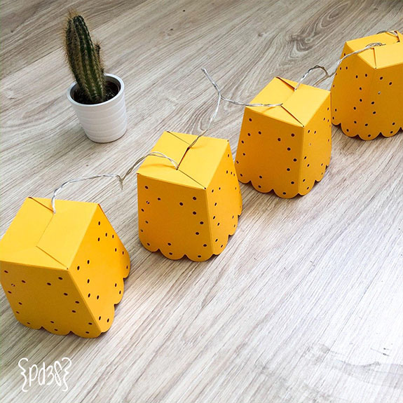 Par de 3 studio DIY guirnalda