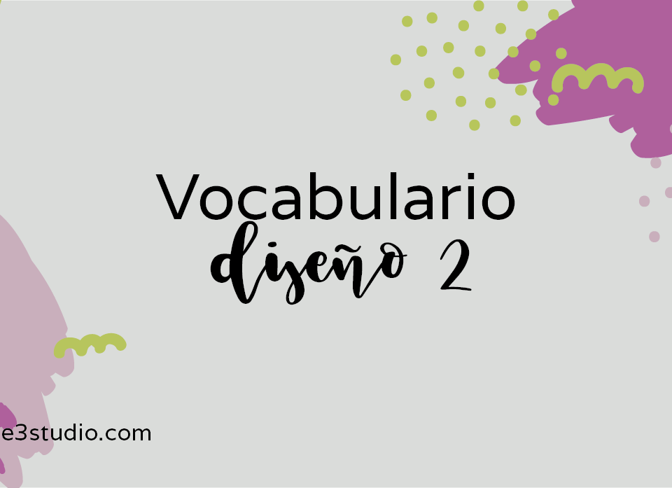 Par de 3 studio vocabulario diseño