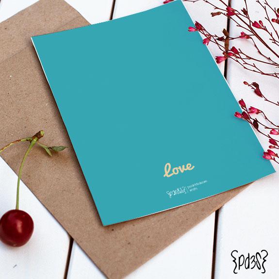Par de 3 Studio tarjeta San Valentin