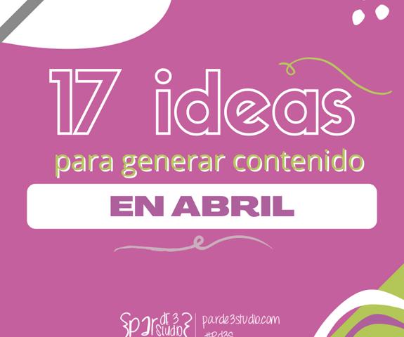 Par de 3 Studio ideas abril