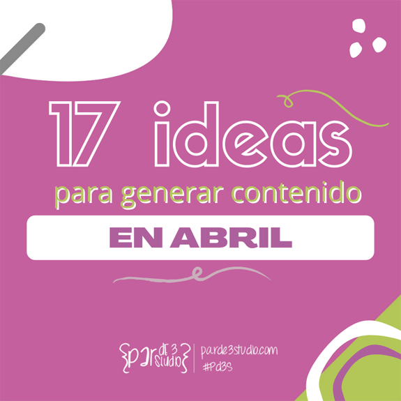 Par de 3 Studio ideas abril