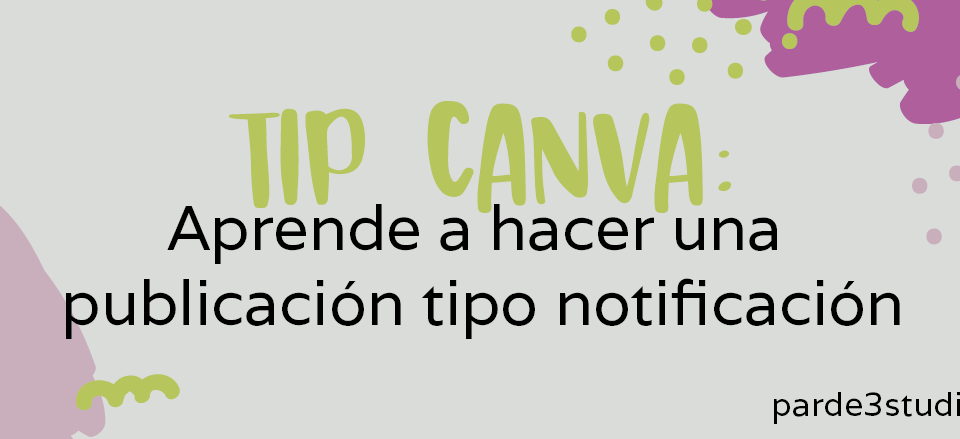 Par de 3 Studio tip canva notificacion