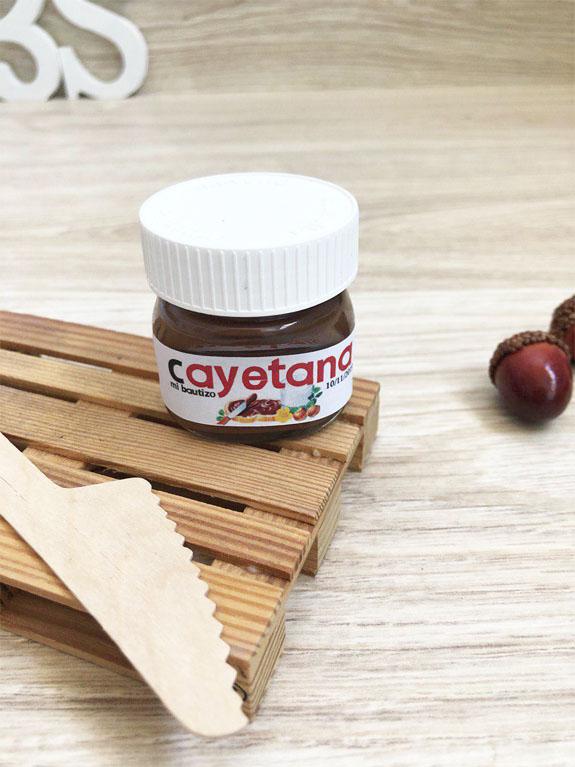 Pd3S etiqueta bautizo nutella