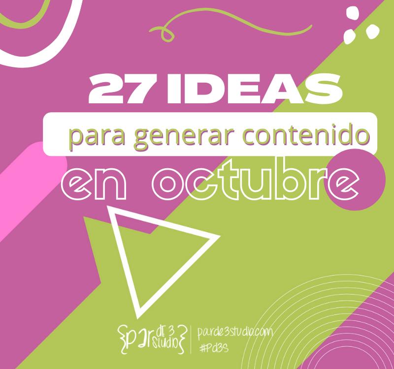 Par de 3 Studio ideas octubre